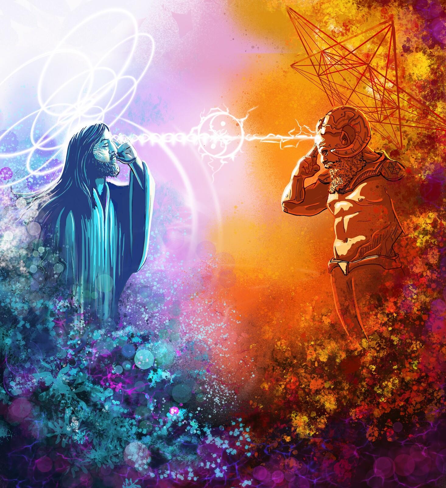 "Single Artwork for Manic Focus for his tack ""Lucifer Jesus""."