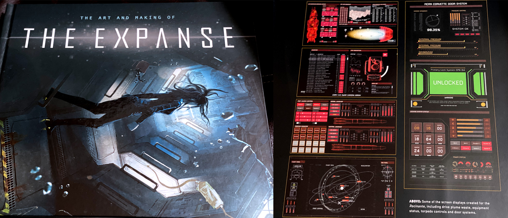 Some of these designs were featured in The Art of The Expanse book.