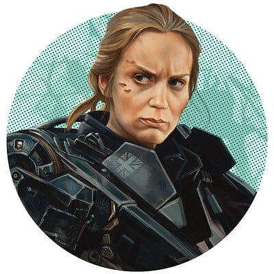 "Rita Vrataski, ""Edge of Tomorrow"", fanart"