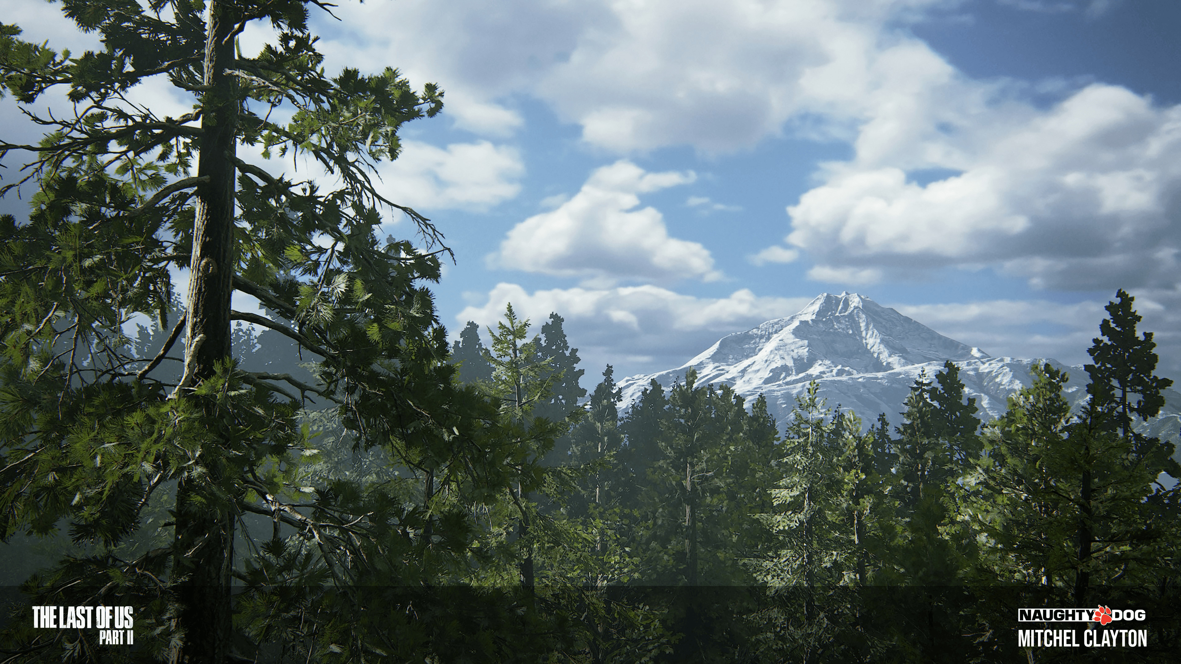 Opening shot to the Seattle Arrival level. I composed the placement of the mountains.