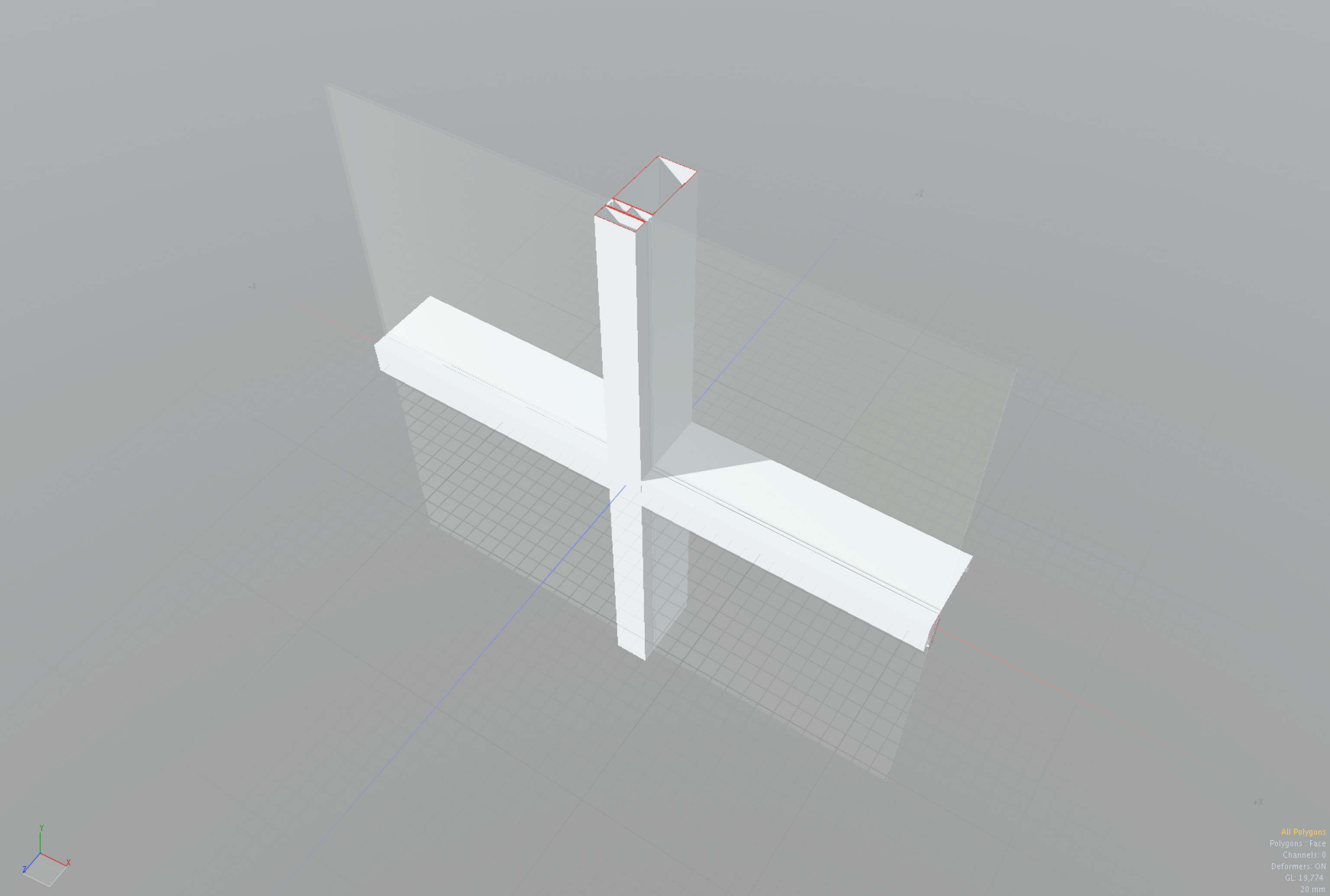 Façade system intersection with sectioned metal mullion profiles