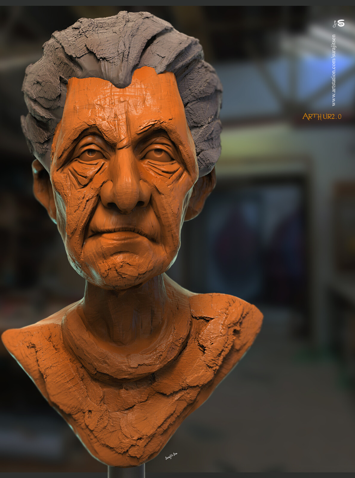 Arthur2.0 Digital Sculpture My free time study works Background music- #hanszimmermusic