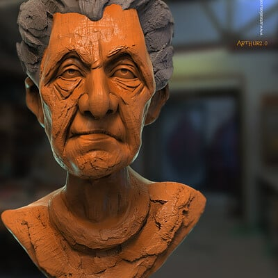 Surajit sen arthur2 0 digital sculpture surajitsen june2020a