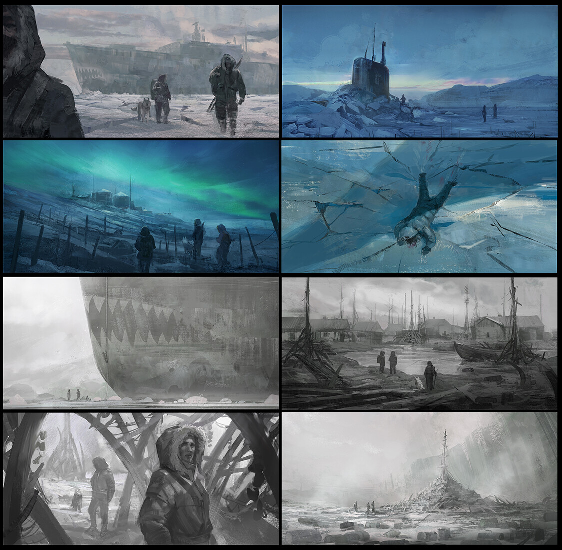 Sketches of possible scenes