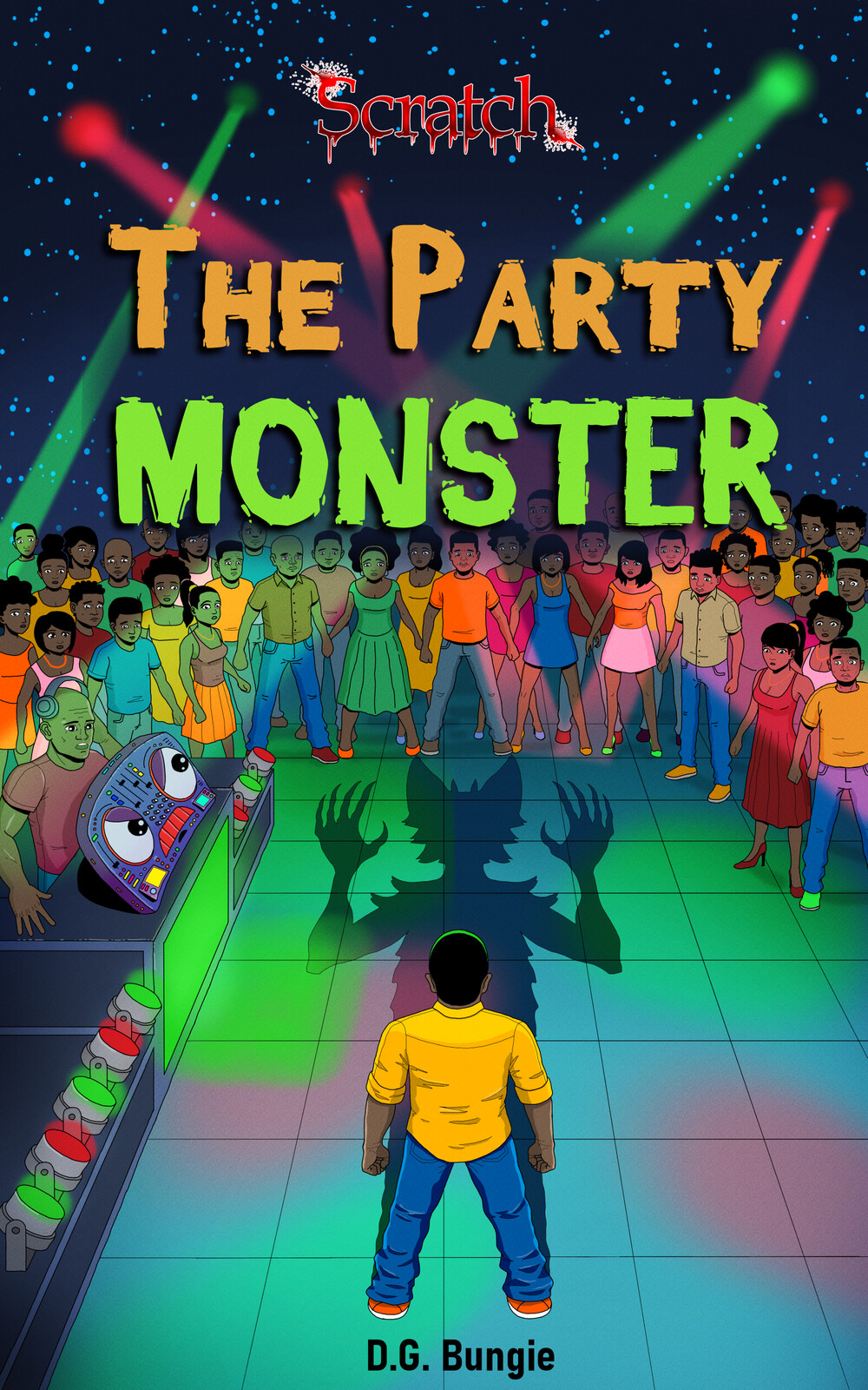 Book cover illustration The Party Monster