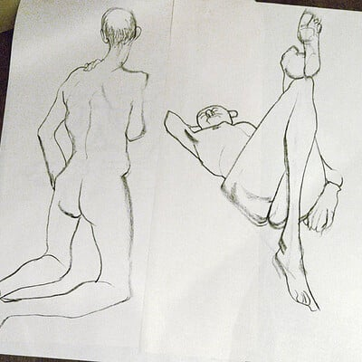Emmeline pui ling dobson life drawing 2014 ricki