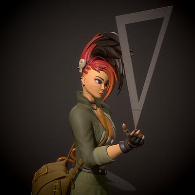 School Punk Akali (Futuregames Character Art)