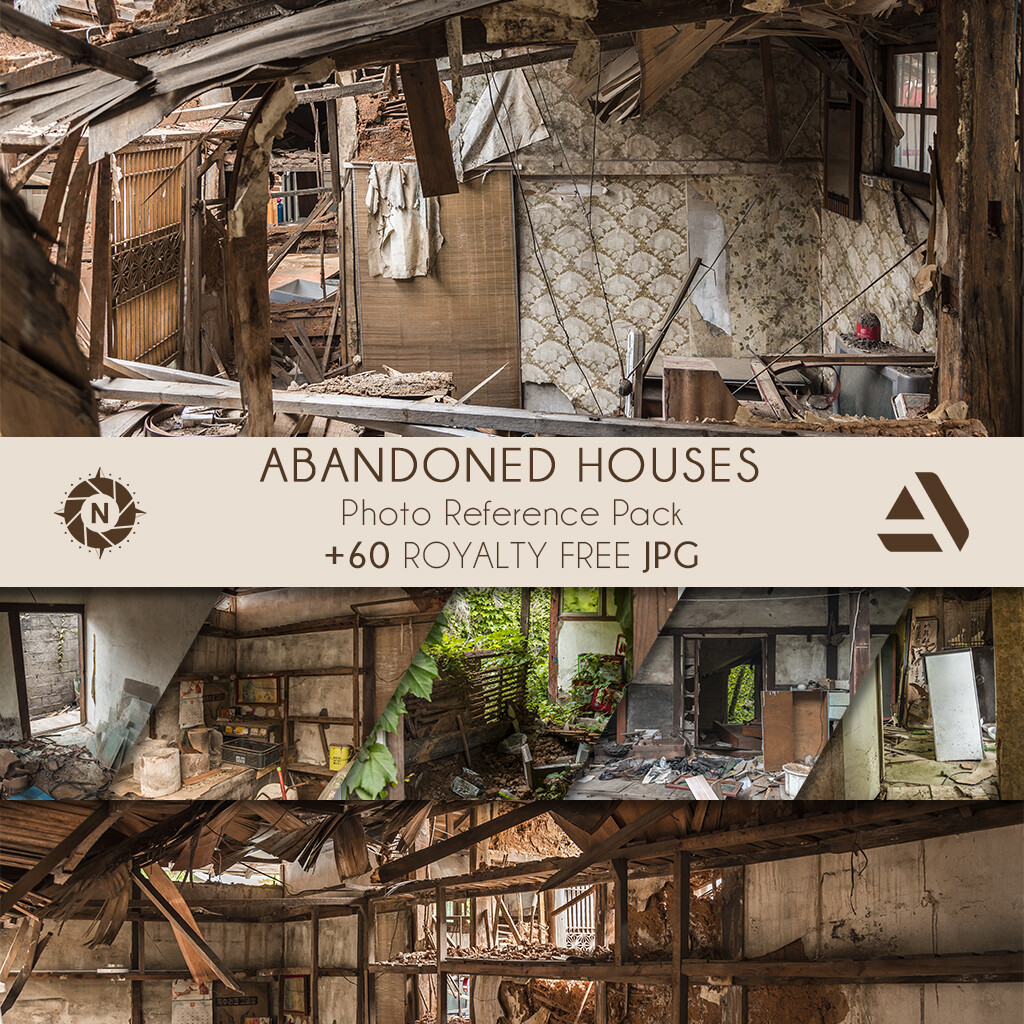 Photo Reference Pack: Abandoned Houses  https://www.artstation.com/a/165899
