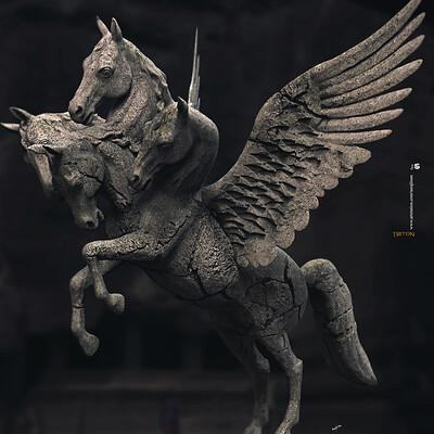 Surajit sen triton digital sculpture surajitsen june2020a