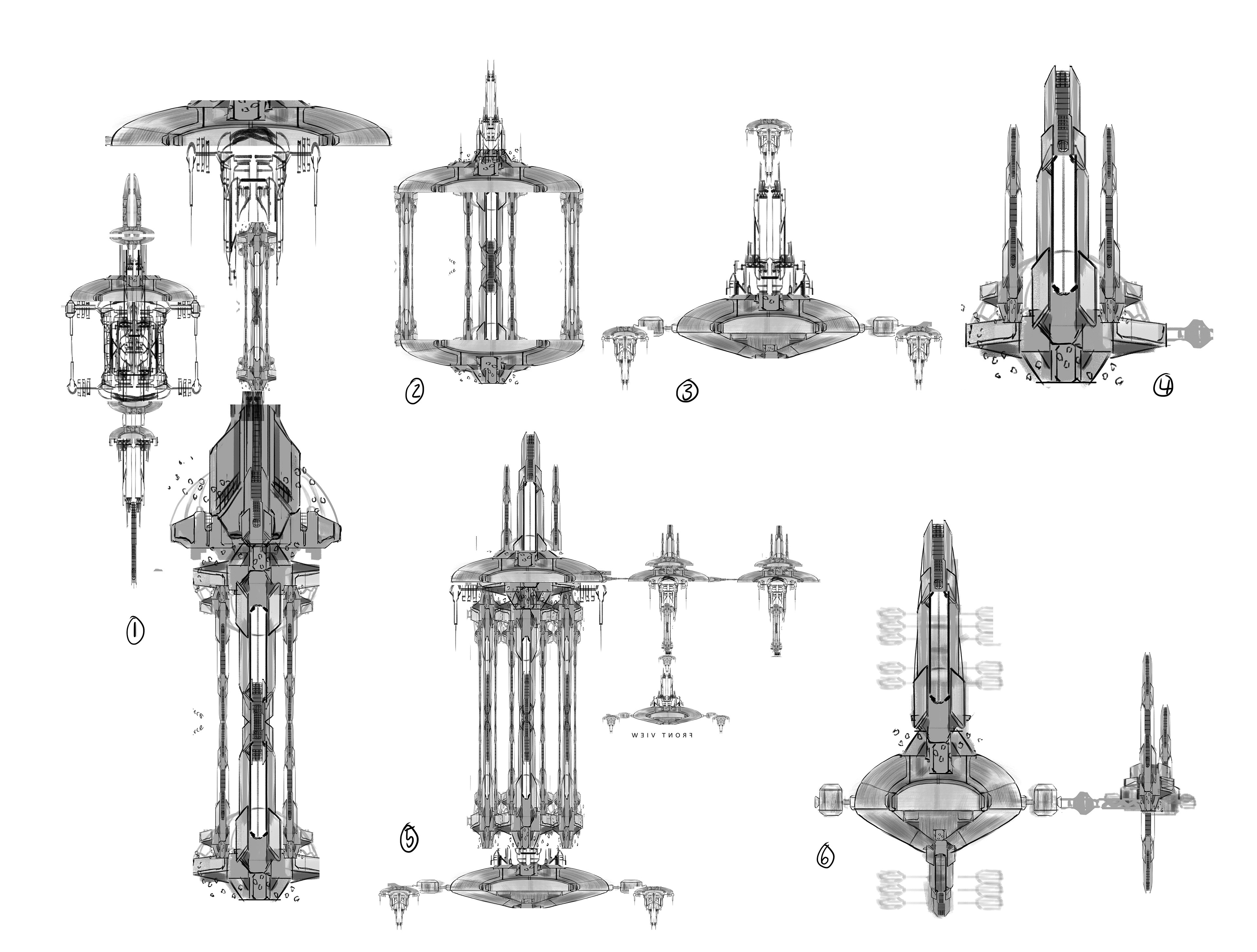 A few of the design sketches