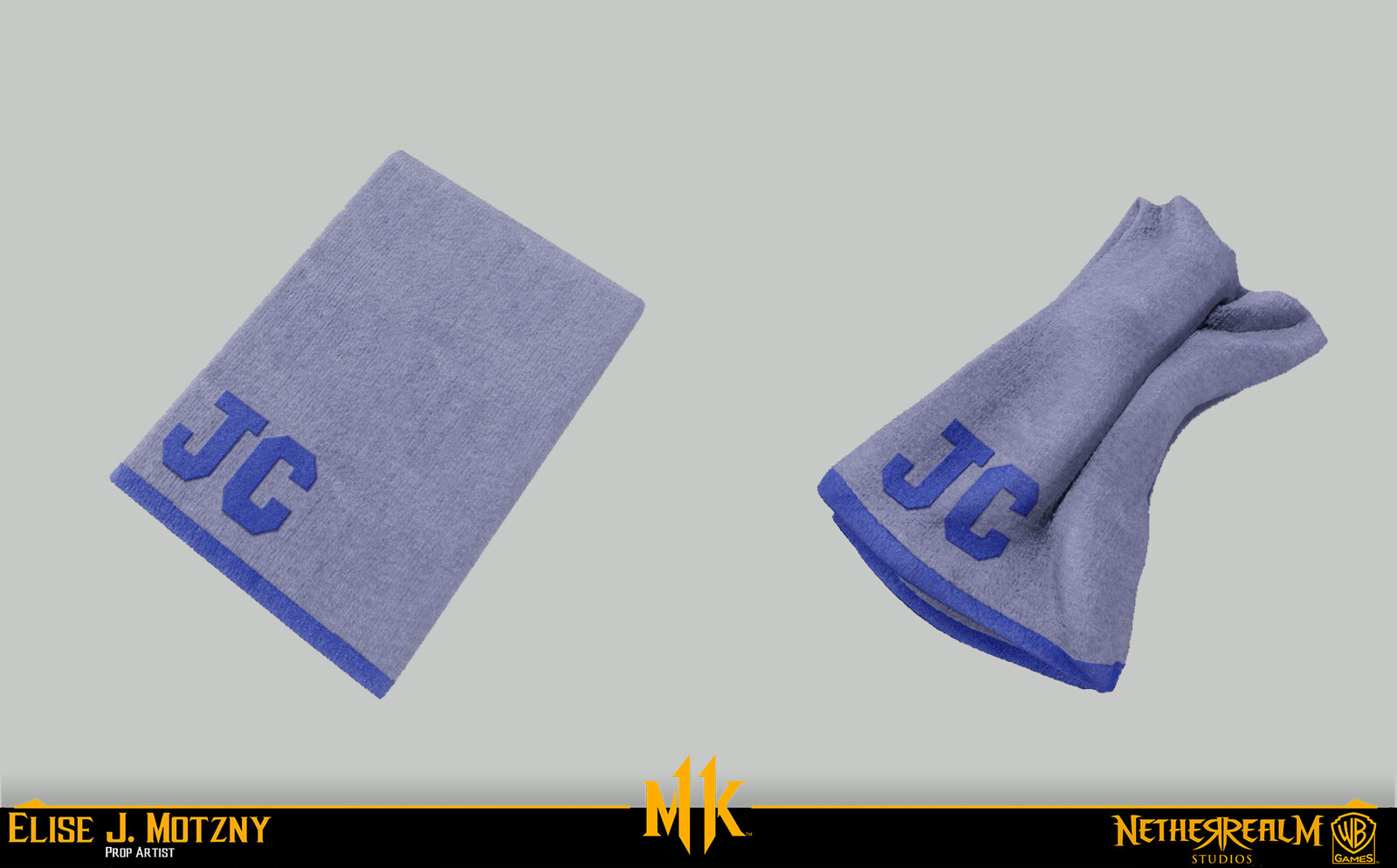 Sculpted warped towel in ZB