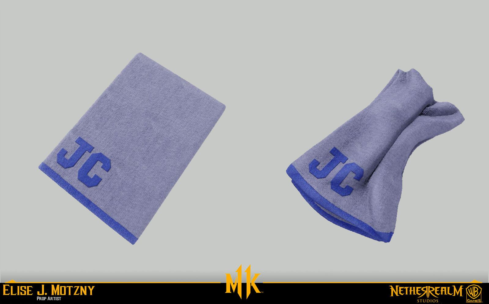 Sculpted warped towel in ZB