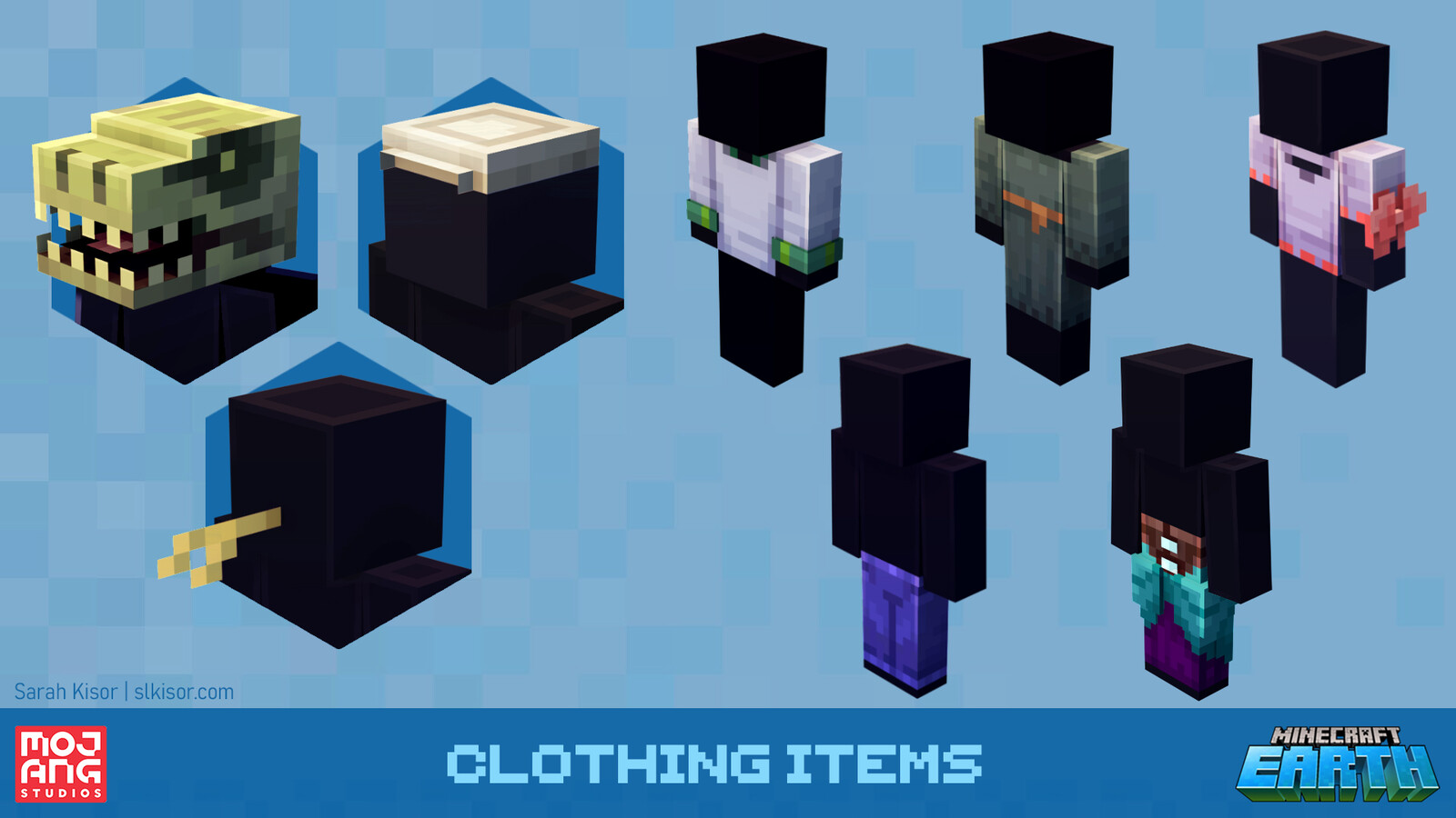 A few different mix-and-match clothing items I worked on