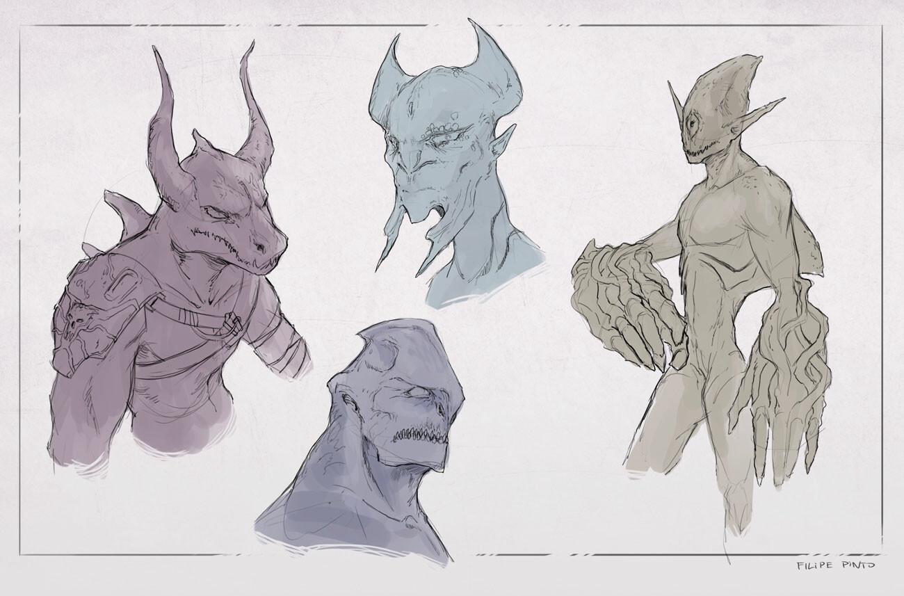 Bonus sketches of other ideas