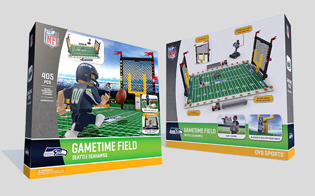 Product renderings for OYO Sports Game Time football field