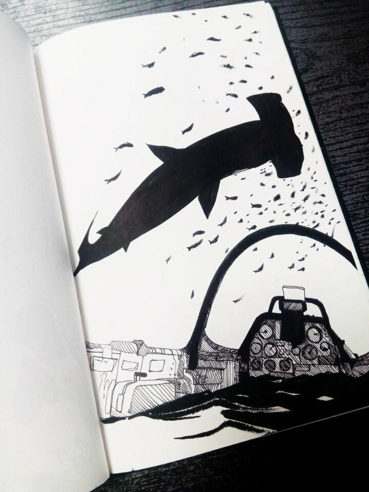 """Orginal sketch: Inktober 2018 entry n°10: """"Flowing"""""""
