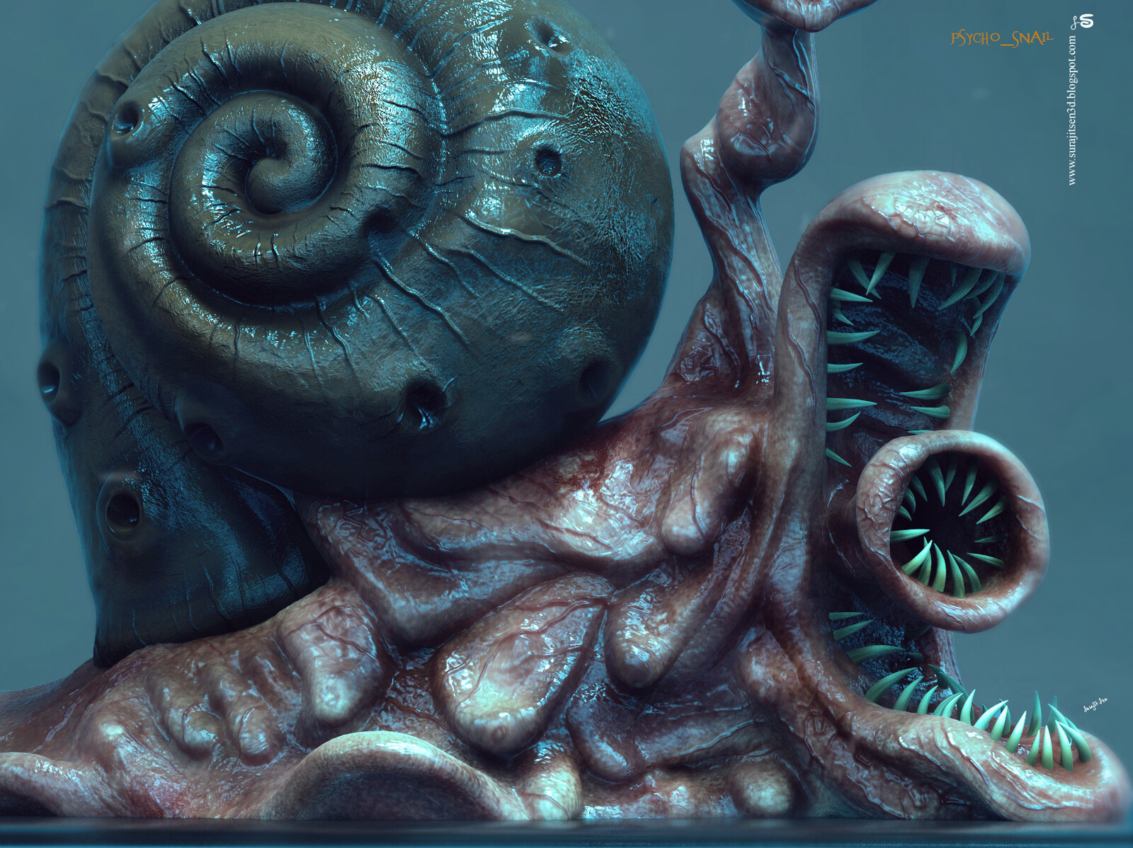 Psycho_Snail2.0 One of my study works... Updated version. Background music- #hanszimmermusic