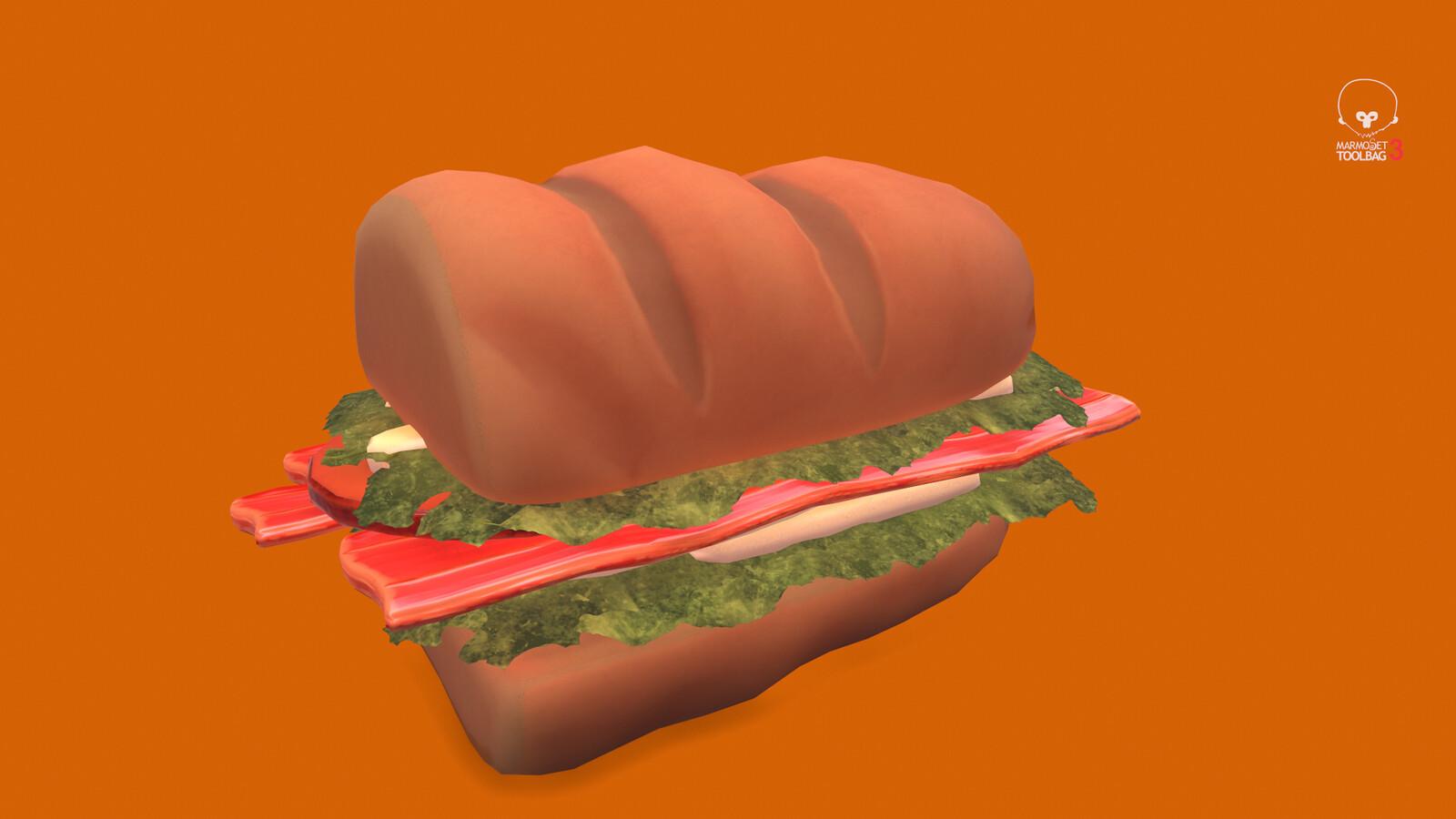 Stylized Submarine Sandwich