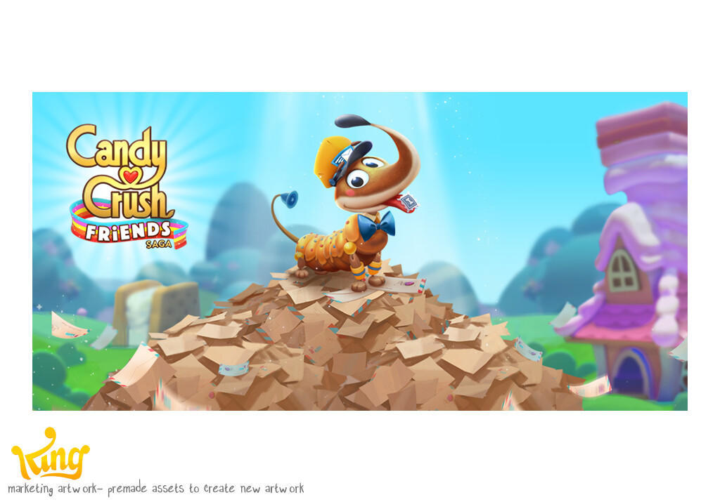 Marketing art for Candy Crush Friends Saga.  made using previously created assets