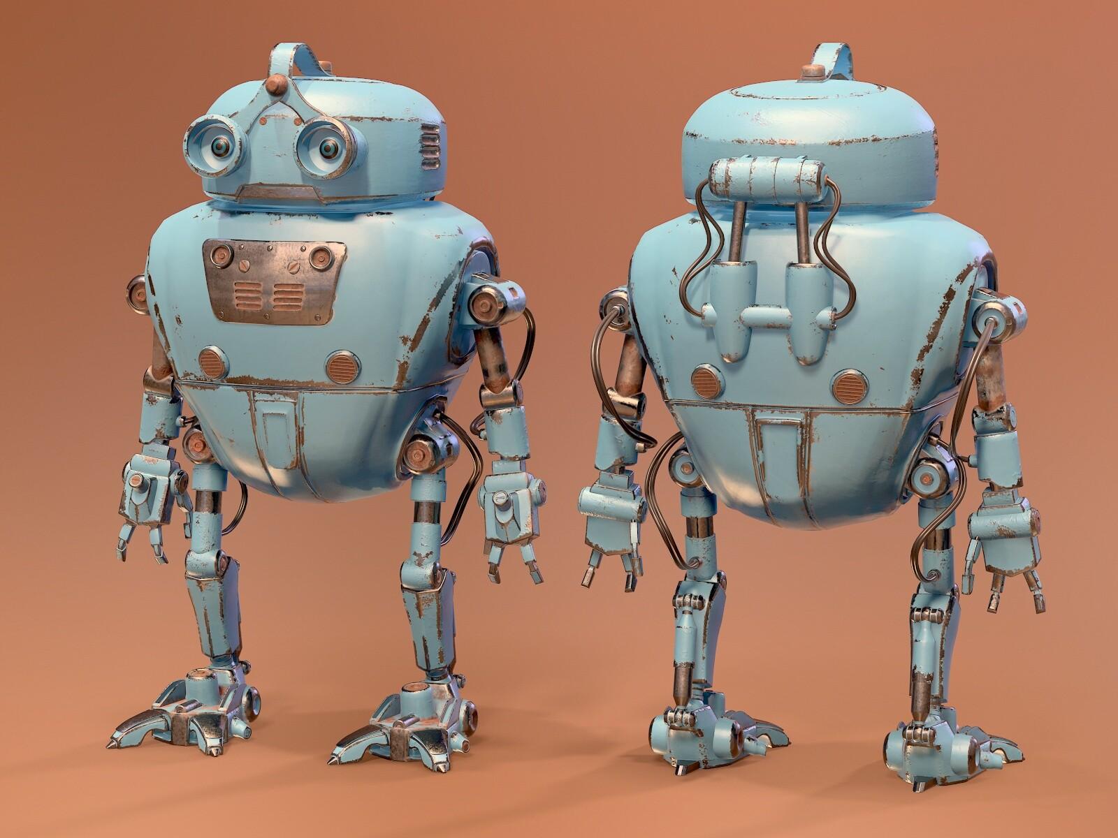 Robot (Wall E)- 3D Character Modelling