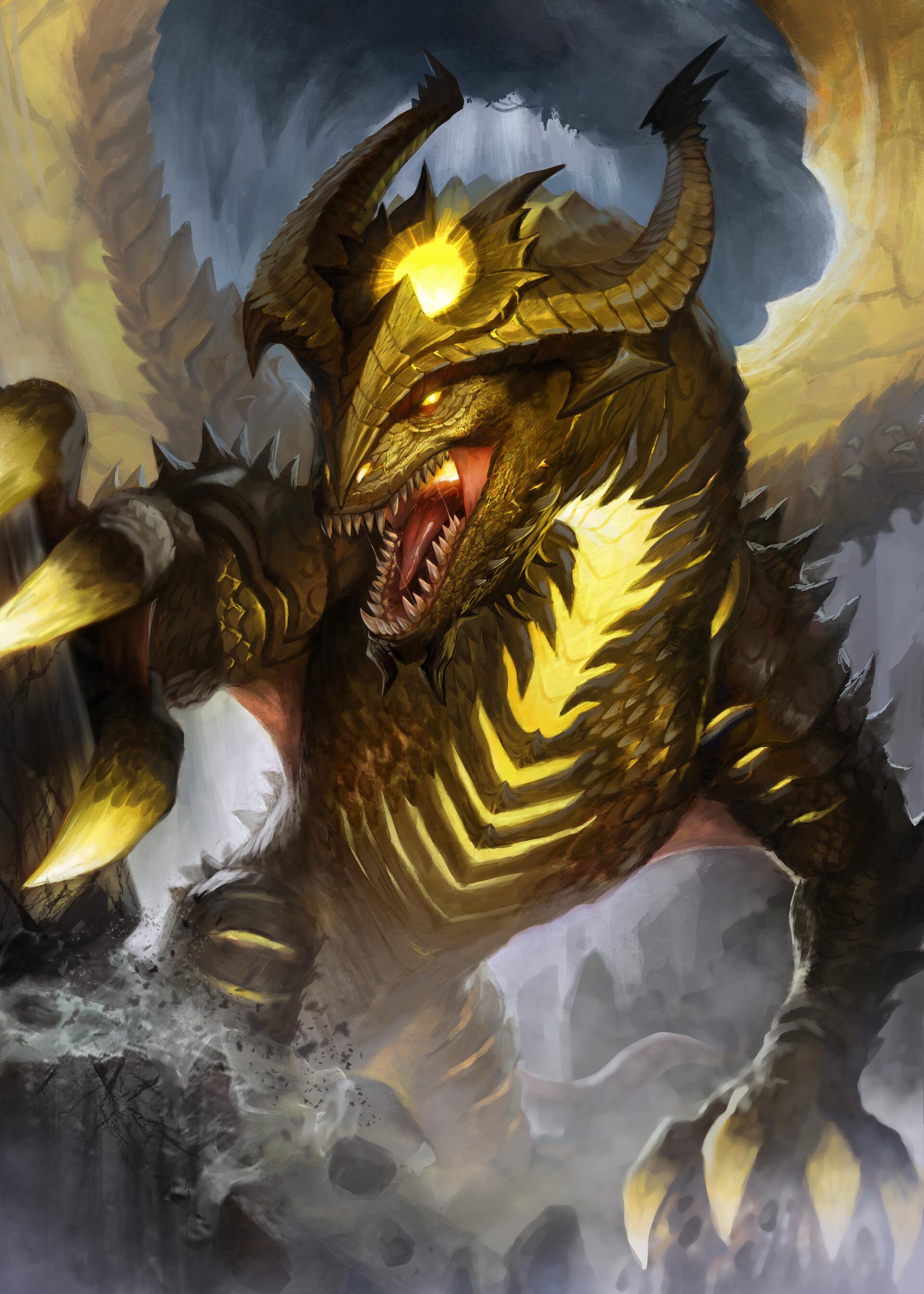Gold covered dragon art the new organon preface define