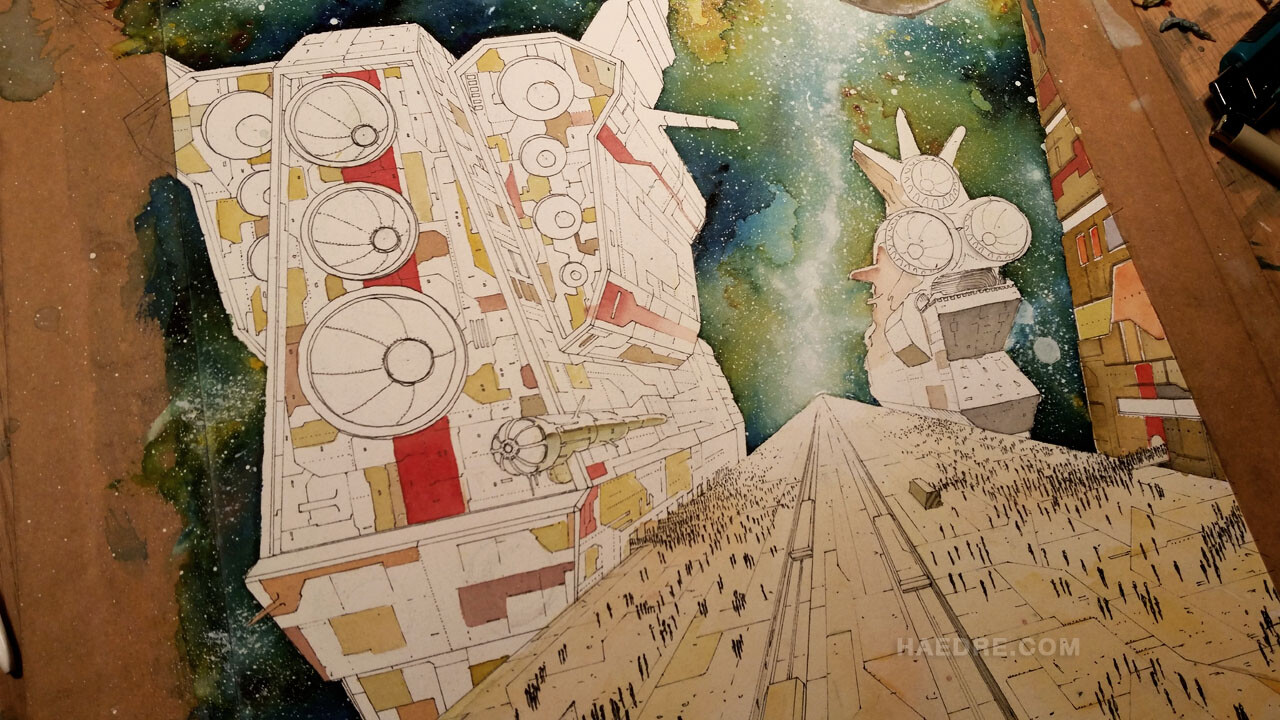 Coloring the ships
