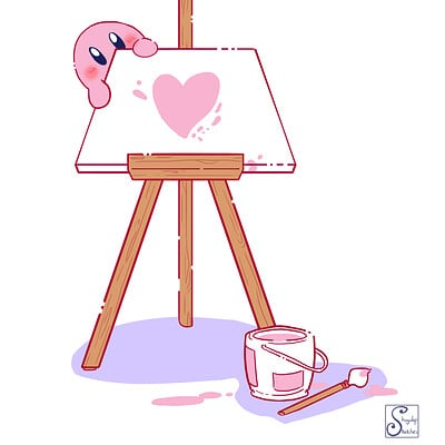 Shugulup sketches cfn valentine s day a canvas and kirby