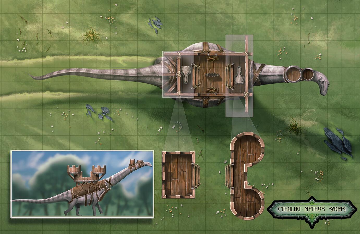 Sauropod battle map
