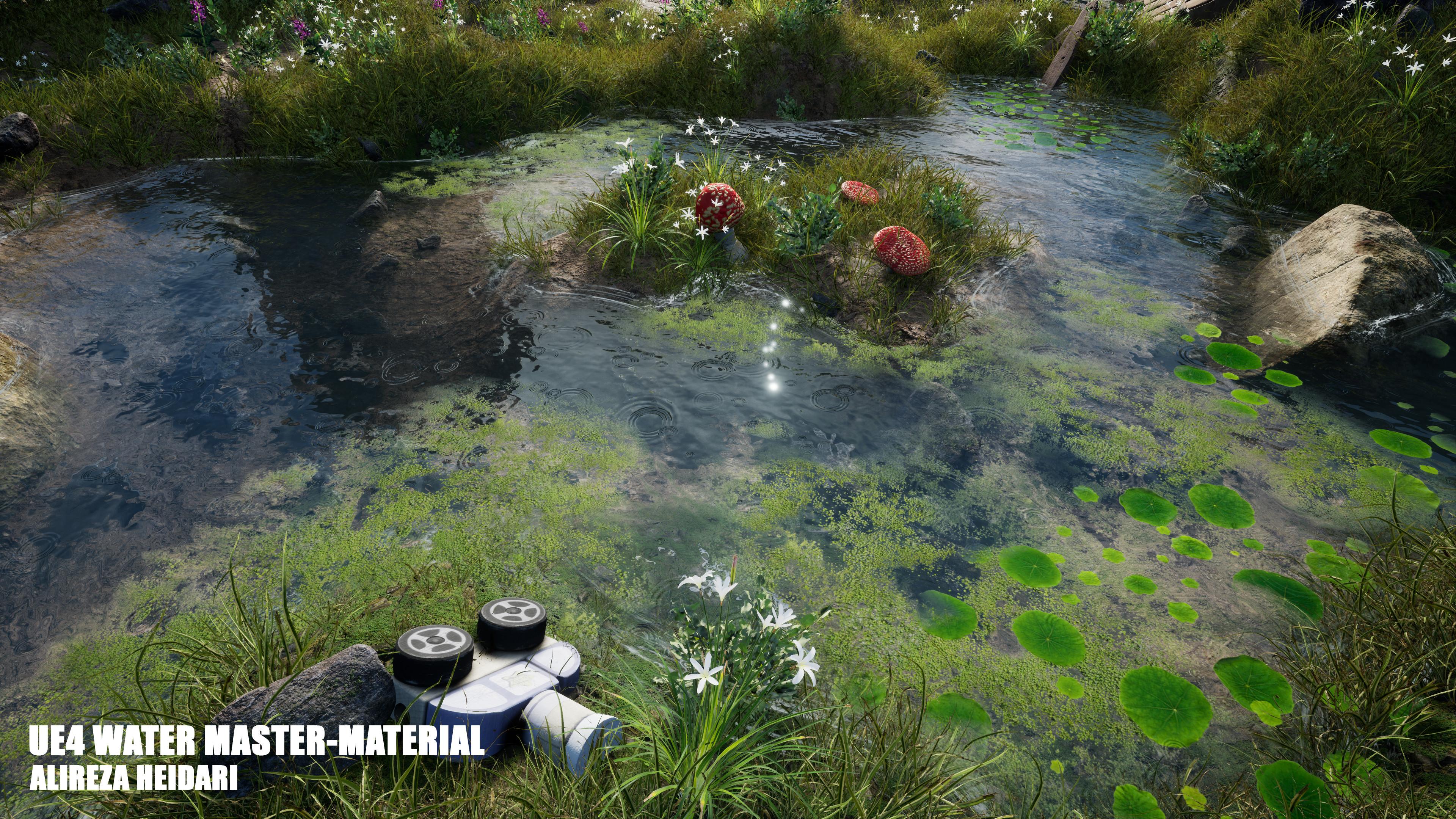 UE4 Customizable Water Master-Material (Vertex Paintable) - Alireza Heidari