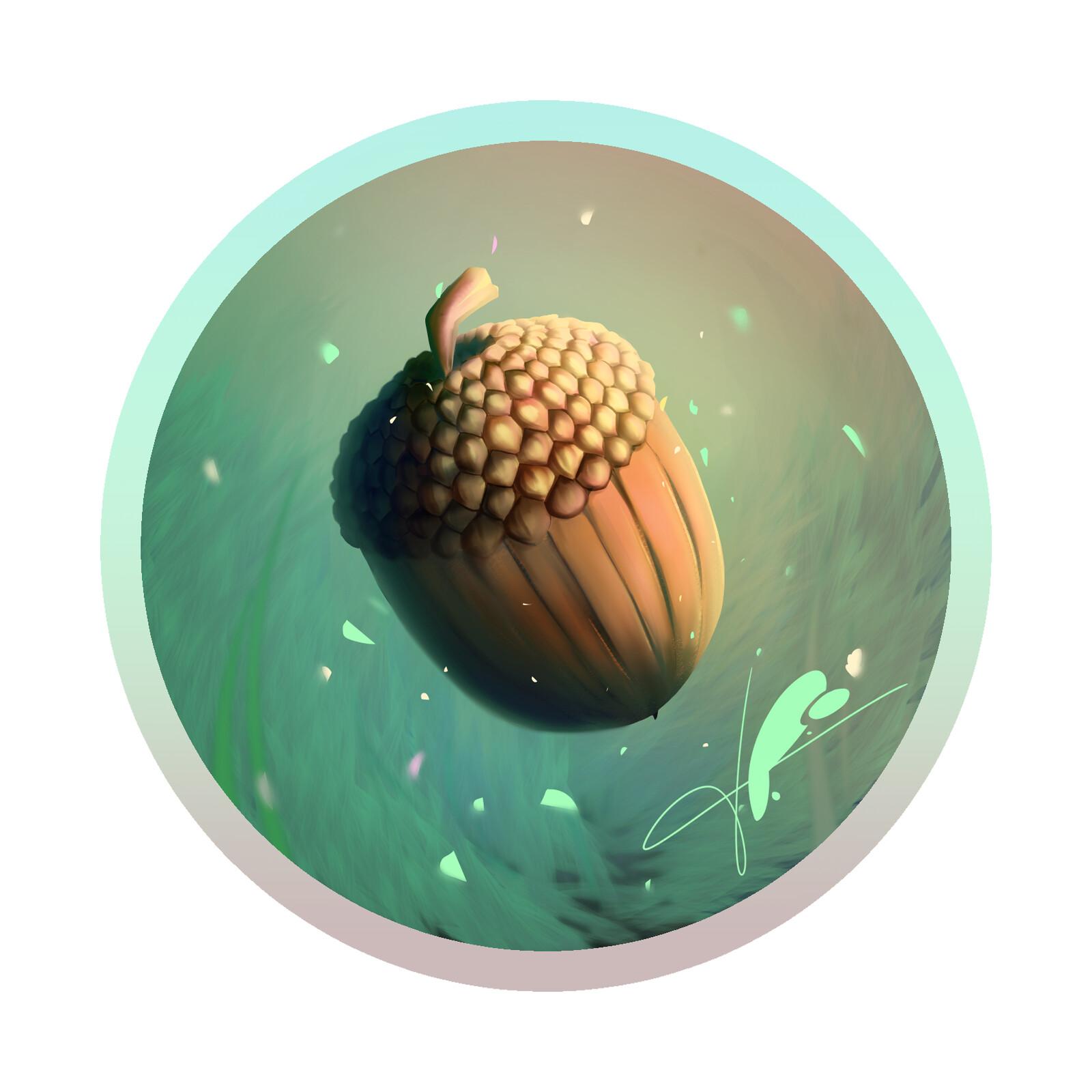 Acorn -Card illustration