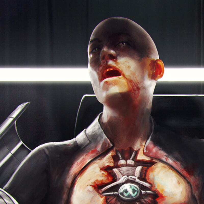 Android being fixed - Mind Waker Concept art.