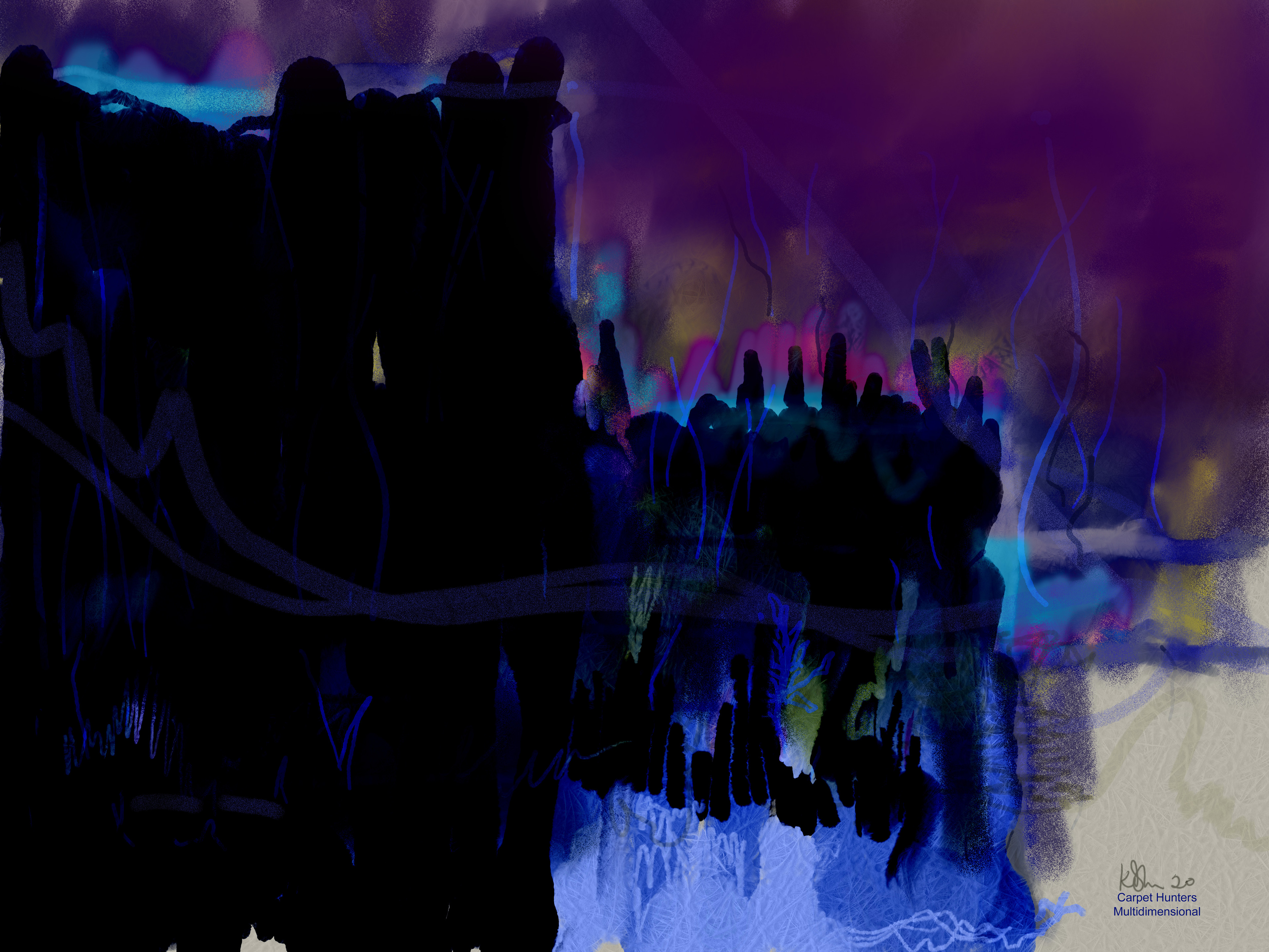 Blue Soldiers -  Multidimensional Carpet Hunters :: Channeled Galactic Art