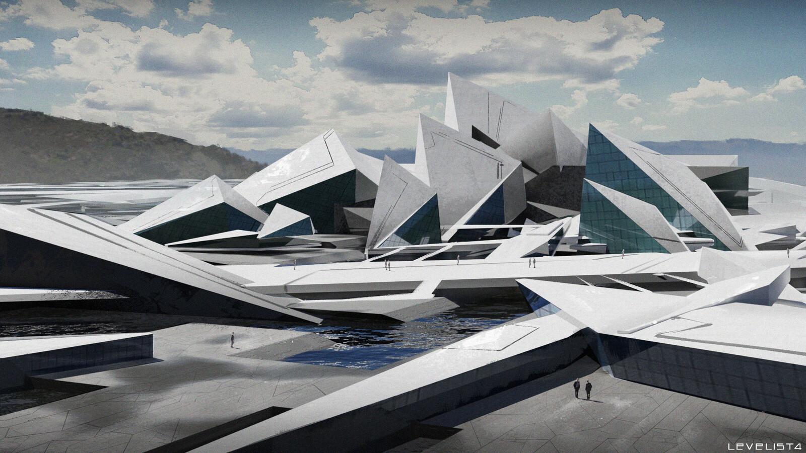 Deconstructivist architecture exploration