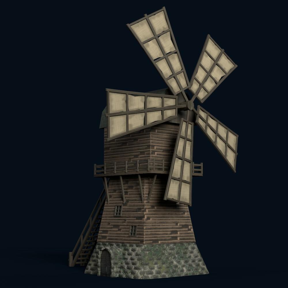 Windmill (model by Thomas De Neef)