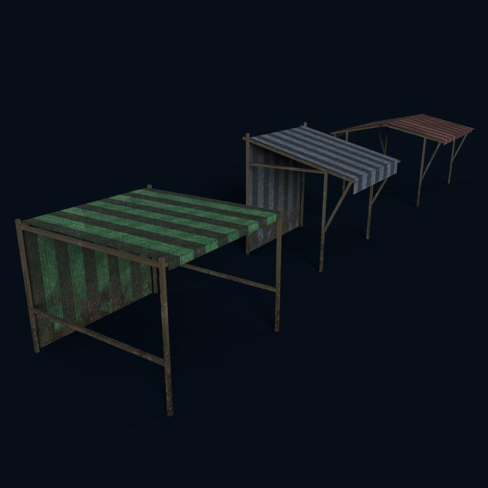 Market Stands (model by Thomas De Neef)