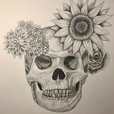 Addyson h hailey s flowery skull