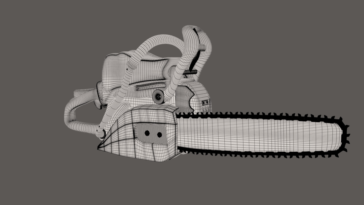 Wire frame of Chainsaw.