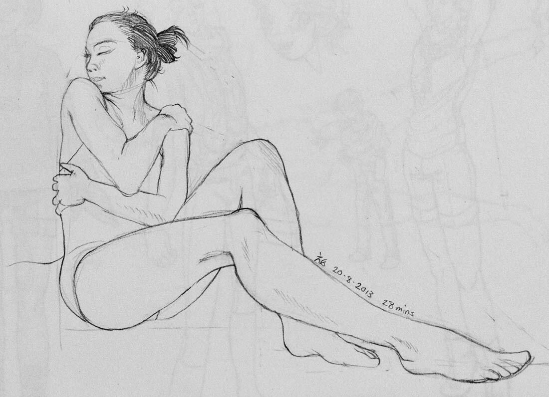 SenshiStock reference drawing practice (2013)