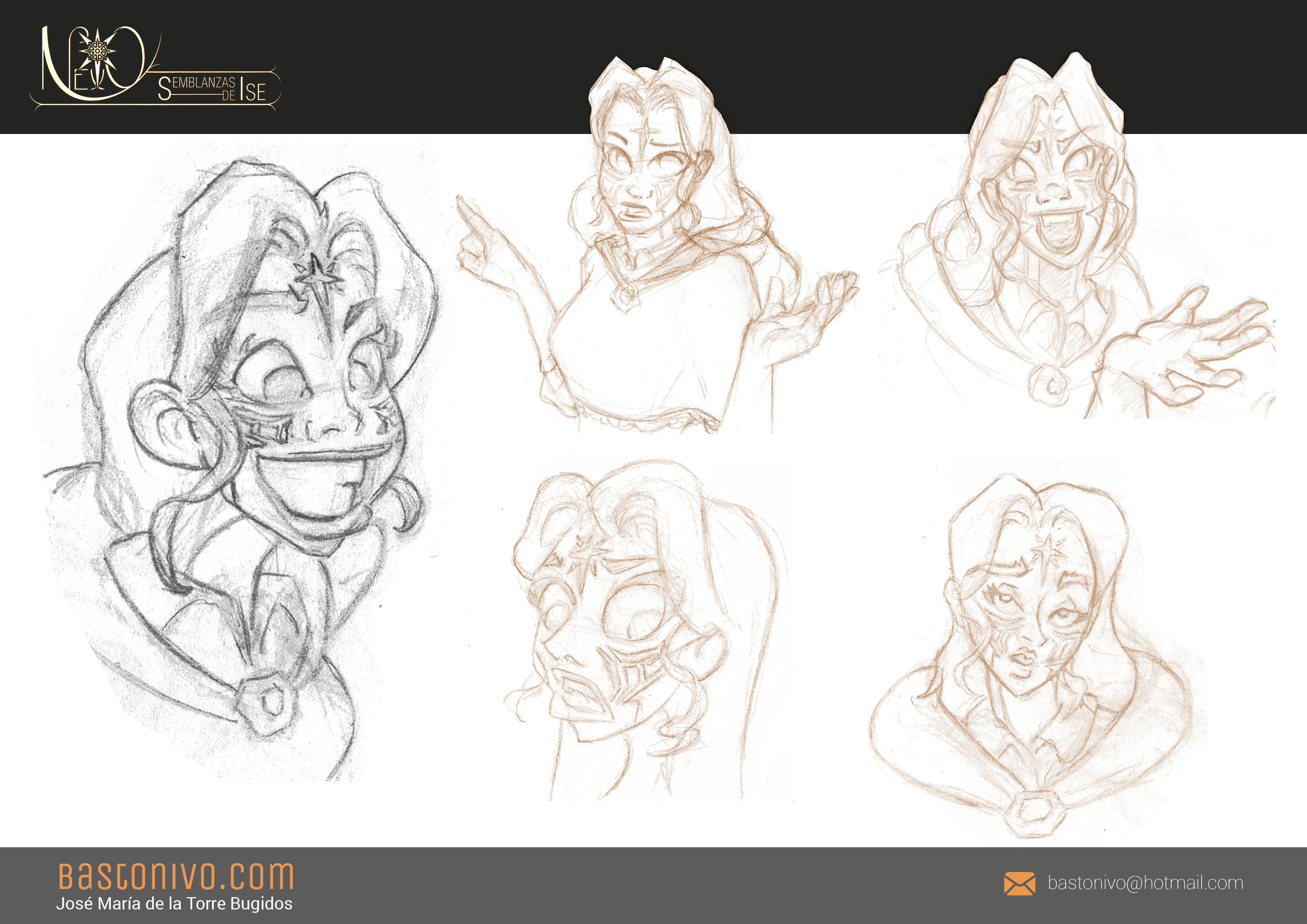 Laerela's stylized sketches