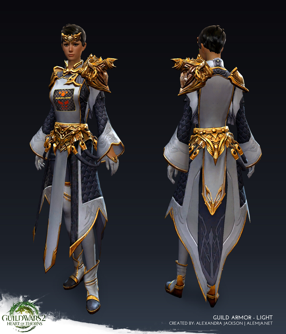 Worked on the armor game ready model and texures. This set was for Guild Wars 2 Heart of Thorns