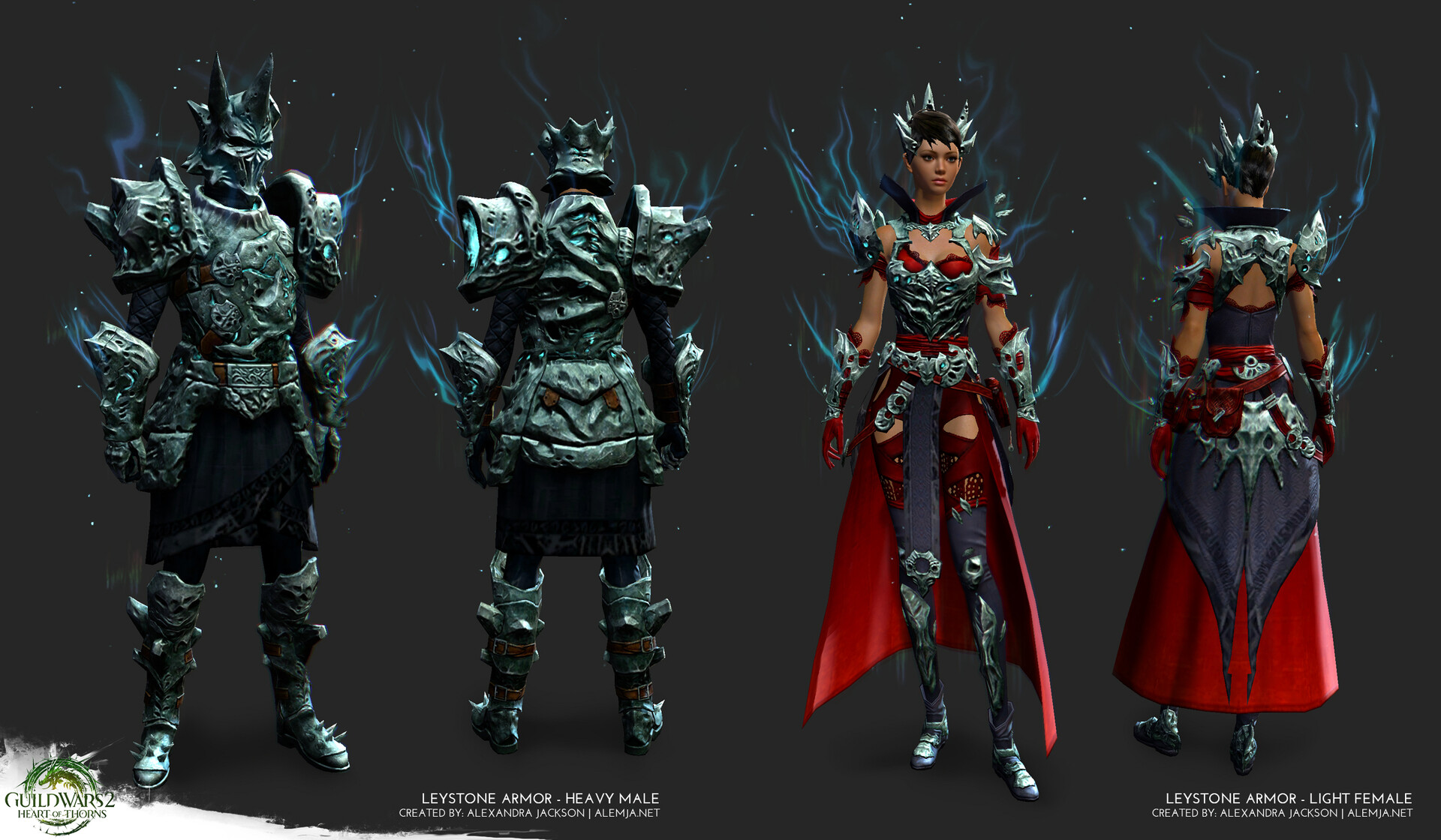Worked on the armor game ready model and texures. This armor features VFX that were handled by the VFX team. This set was for Guild Wars 2 Heart of Thorns