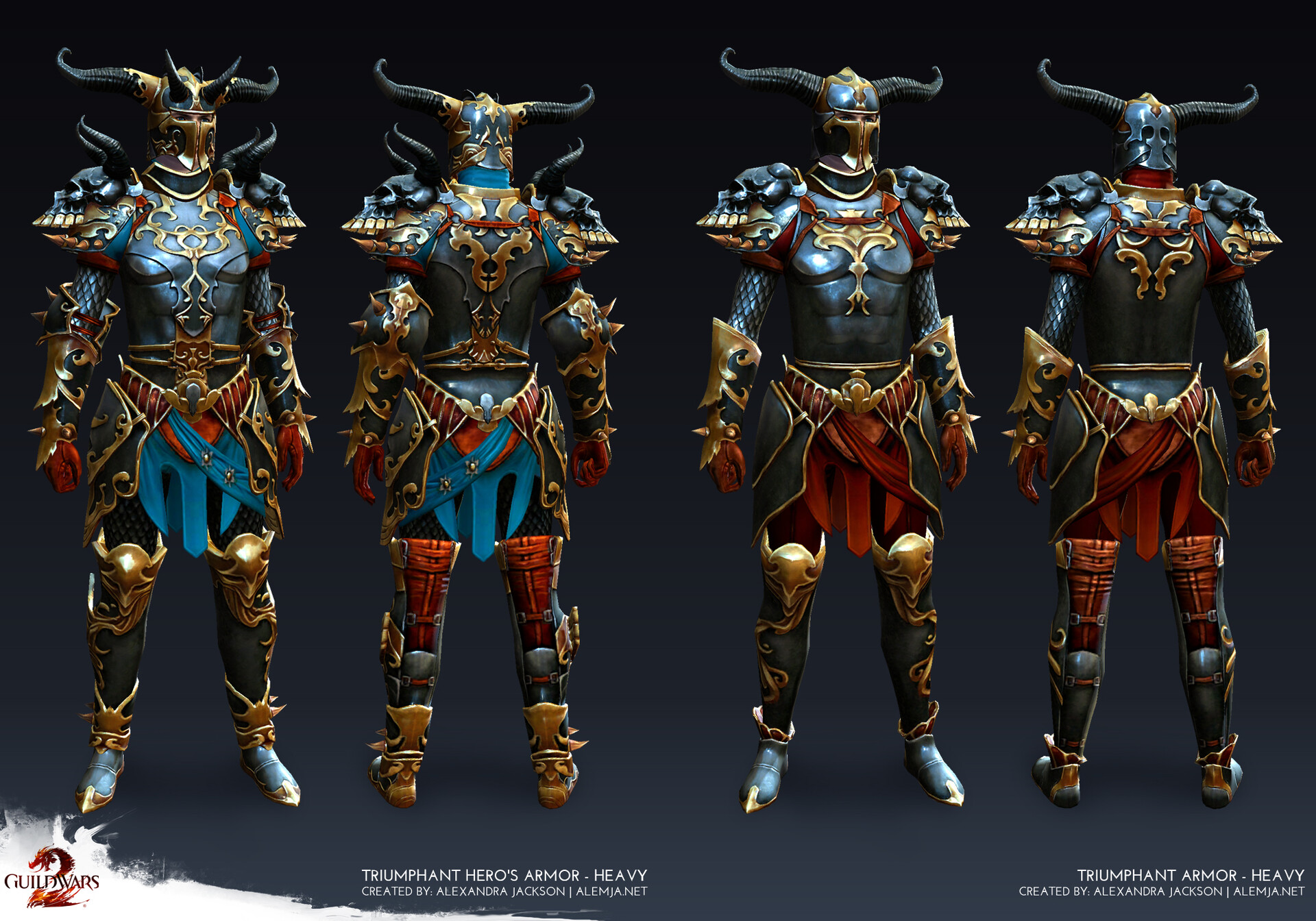 Worked on the armor game ready model and texures. I made sure as much as possible was reused as possible between the 2 tiers. This set was added as a reward tier for the in-game mode World vs World