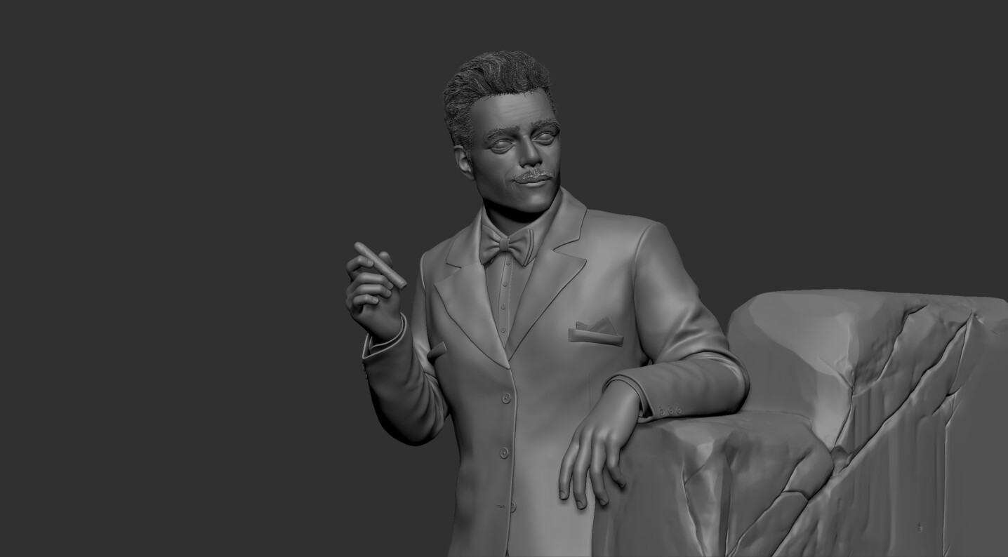 Young Gomez Addams ZBrush Sculpt