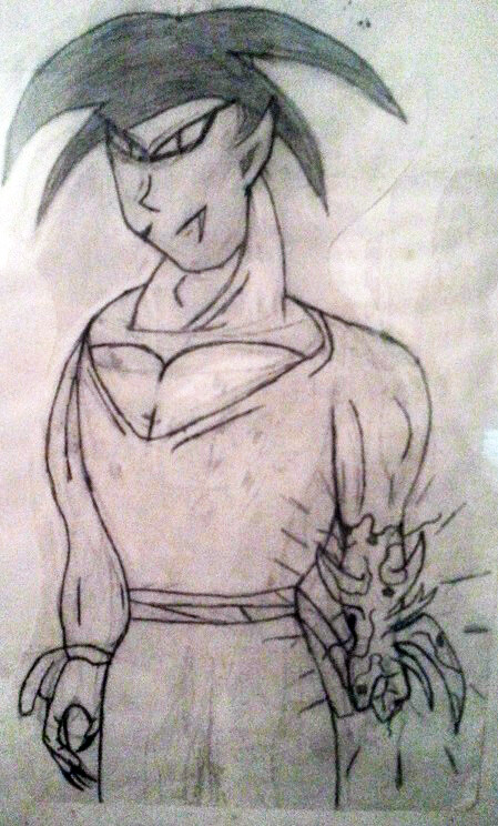 Old sketch of transformed Kaiel into Kefal