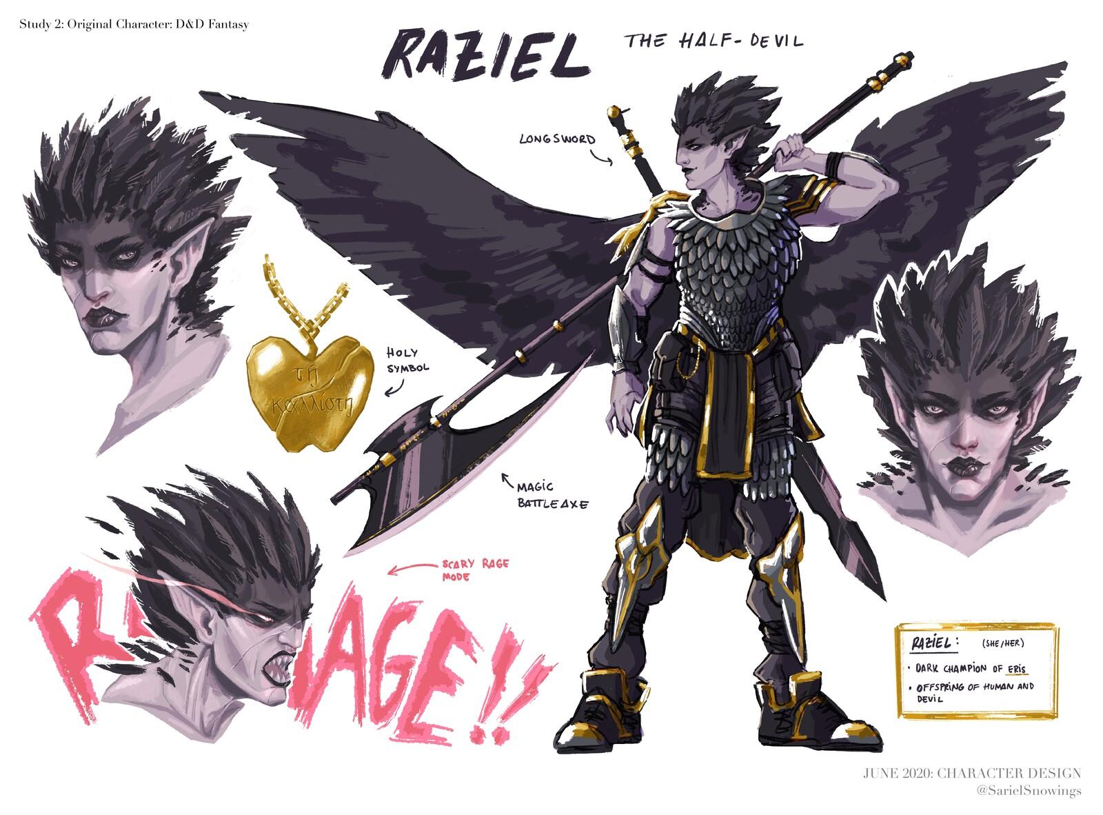 Raziel - Fantasy RPG character art