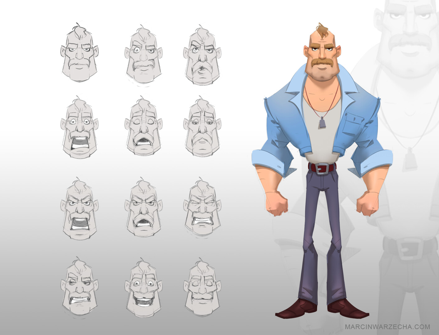 Hank - Stylized character design