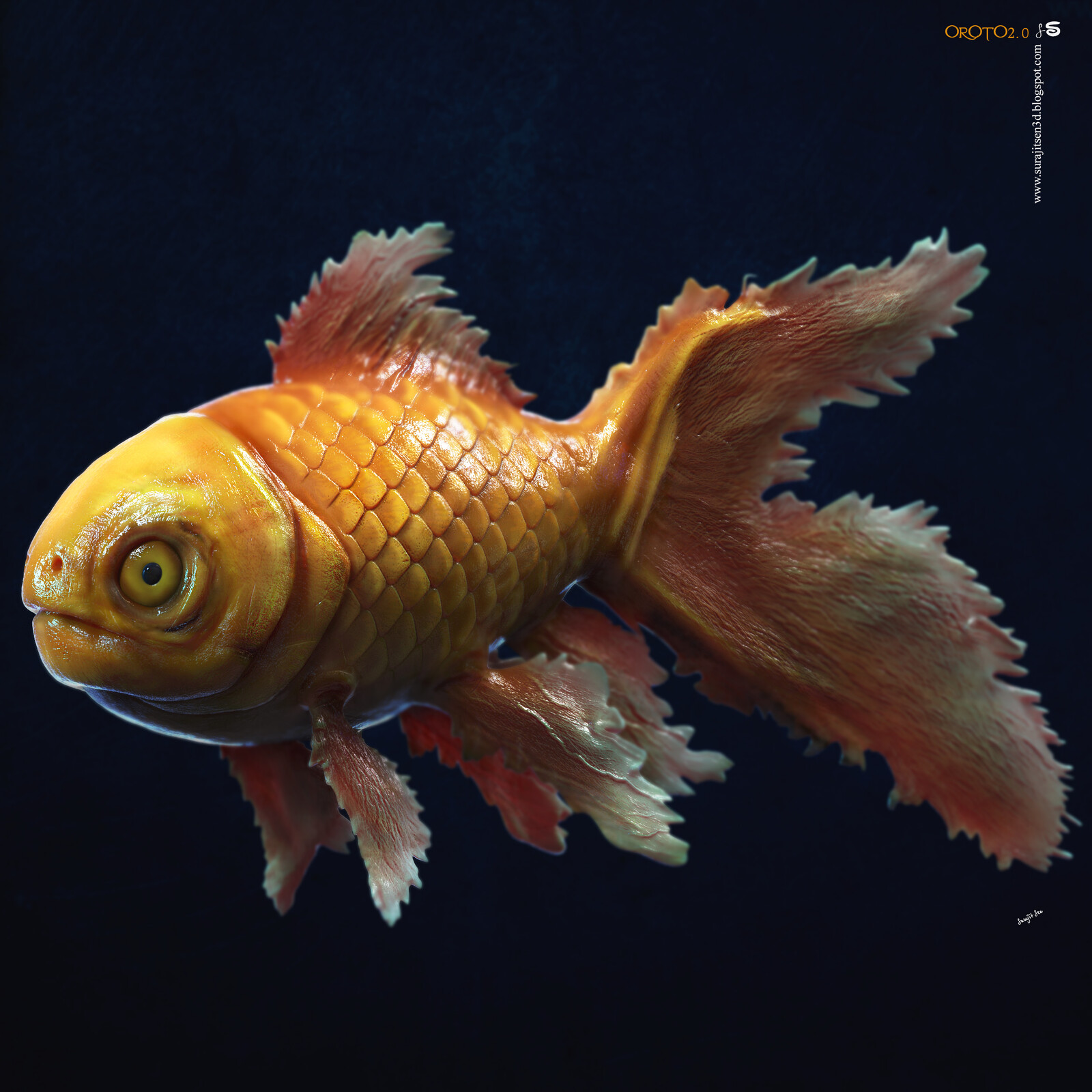 CG Fish My weekend R&D. Tried to make a form of my thoughts. Background music- #hanszimmermusic