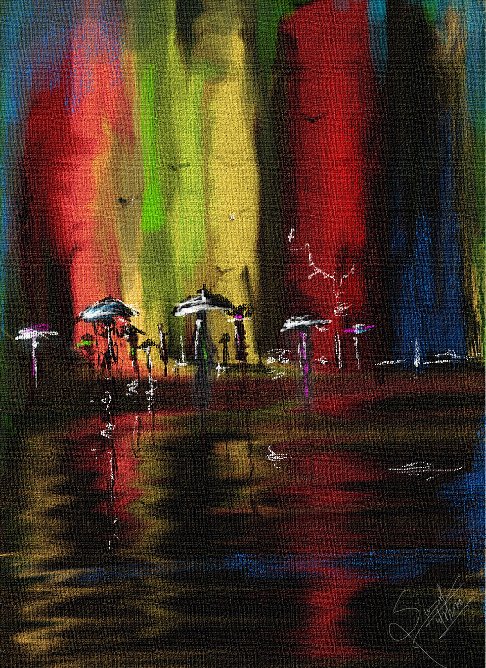 Colours of rain One of my Digital Canvas painting. Used-Paintstop Background music- #hanszimmermusic