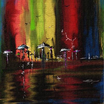 Surajit sen color of rain digital canvas painting surajitsen 2020a