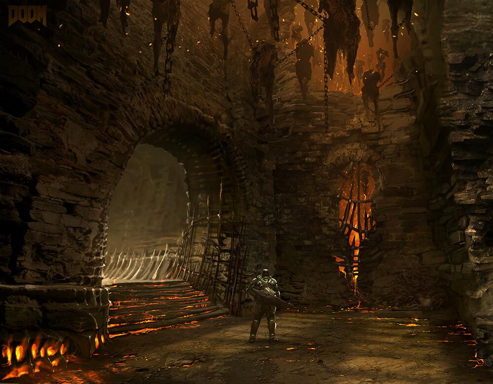 Doom 2016 Meat Hallway